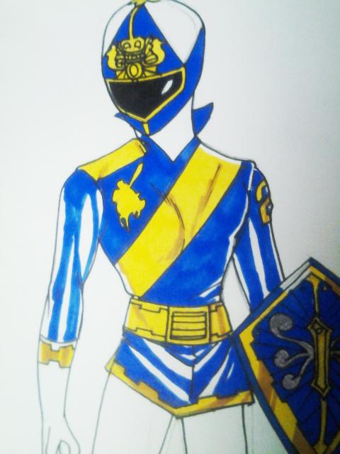 Blue Knight half by DynamicSavior