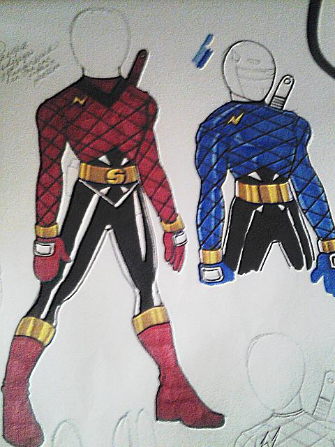 Kakuranger re-design suit by DynamicSavior