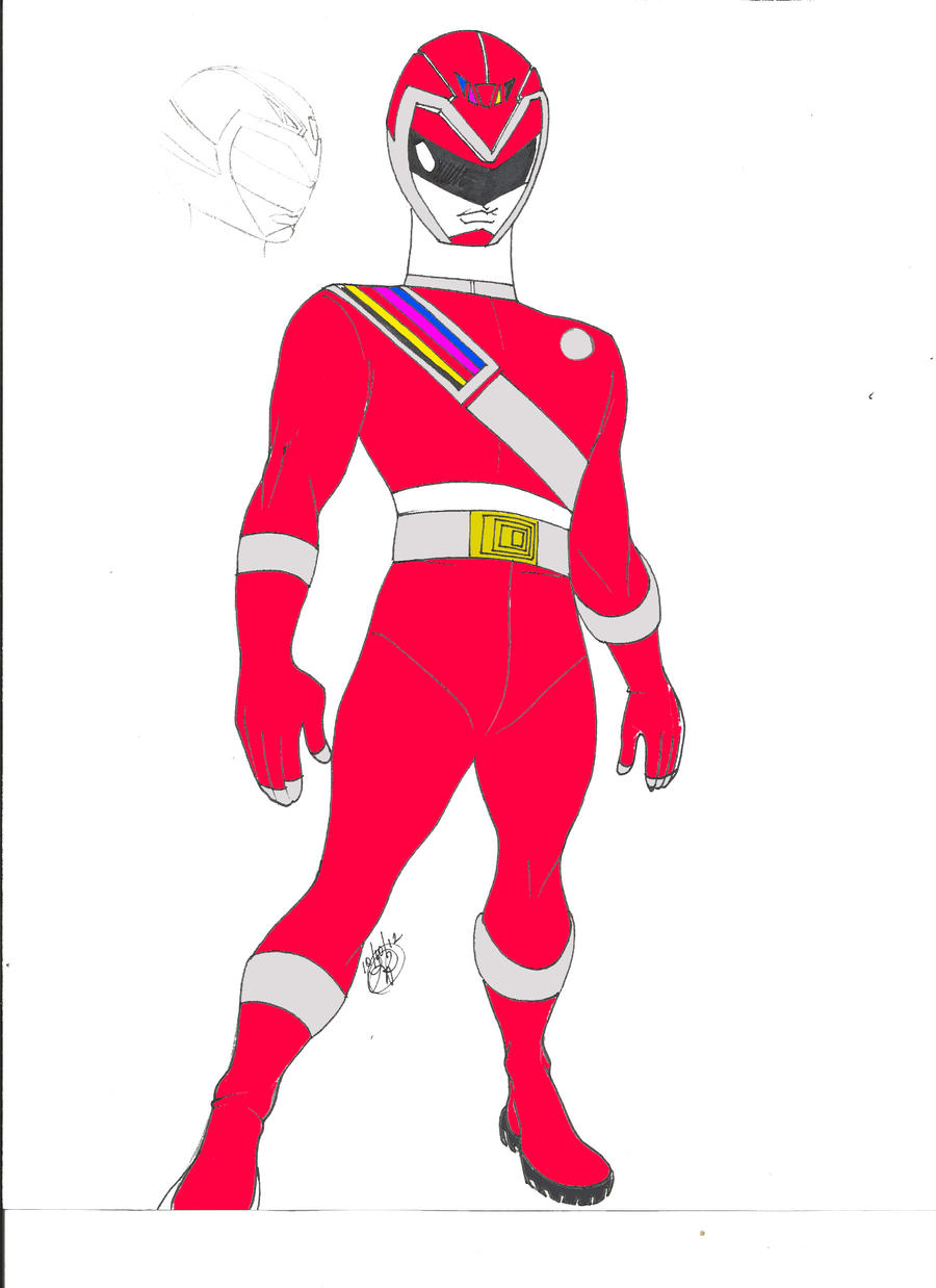 Red Space ranger concept 1 by DynamicSavior