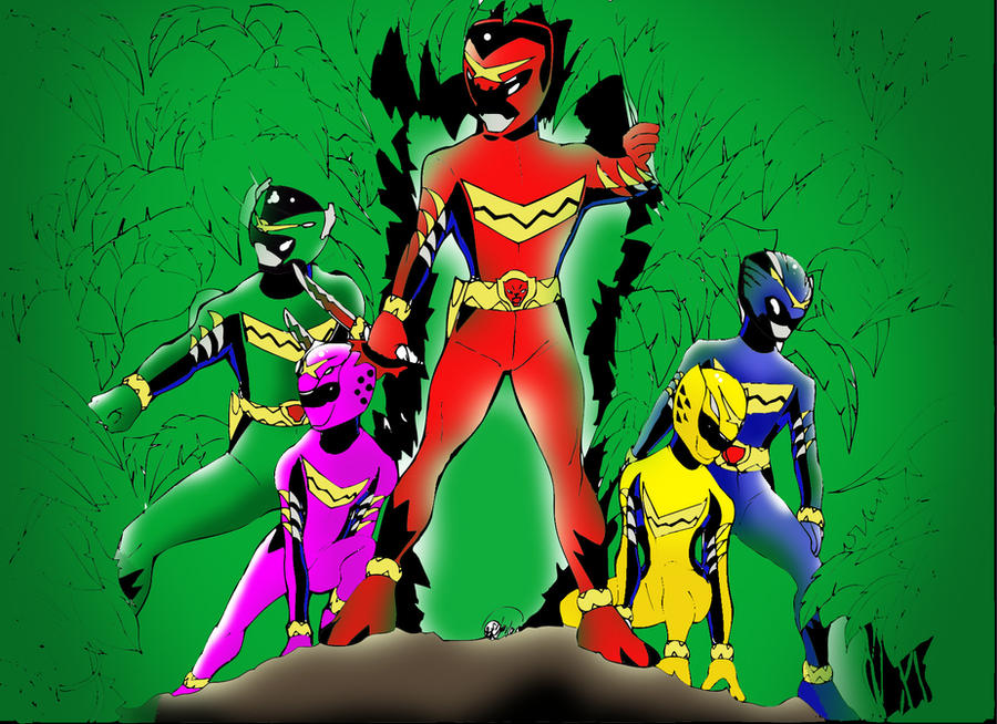 Gosei Red team by DynamicSavior