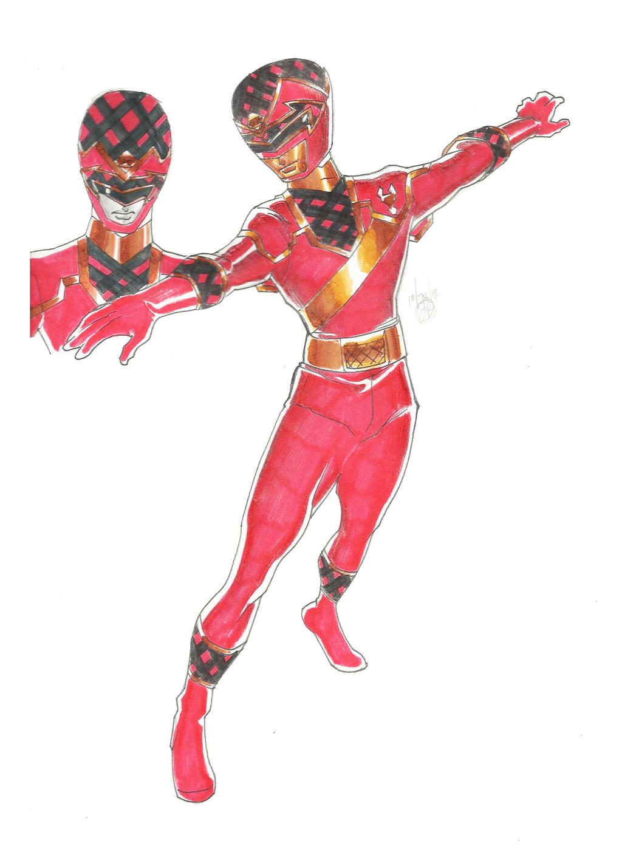 DualBeast Red Toragon Ranger by DynamicSavior