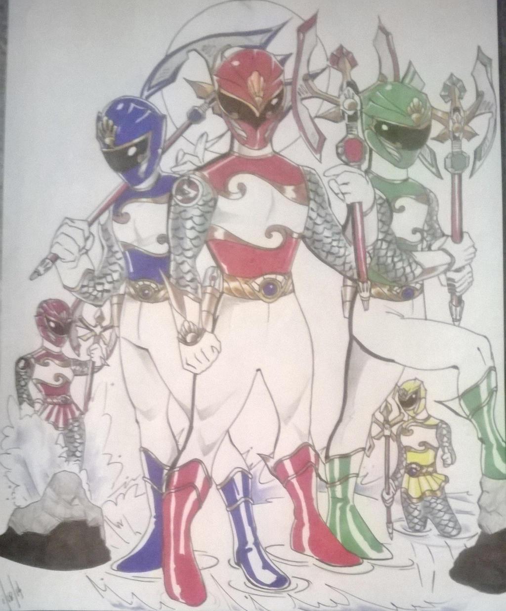 Underwater Sentai team picture by DynamicSavior