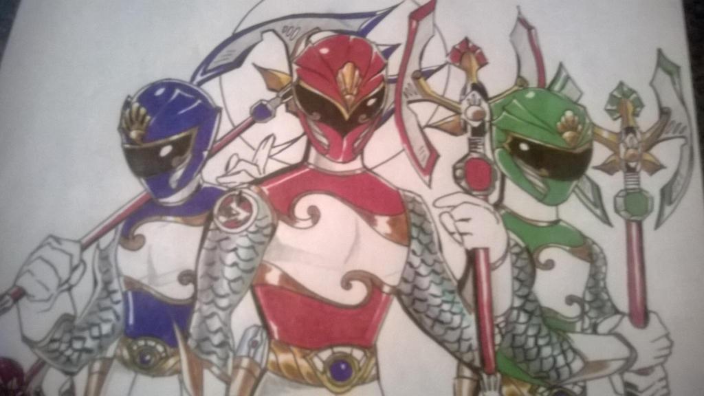 Blue, Red, and Green UW senshi by DynamicSavior