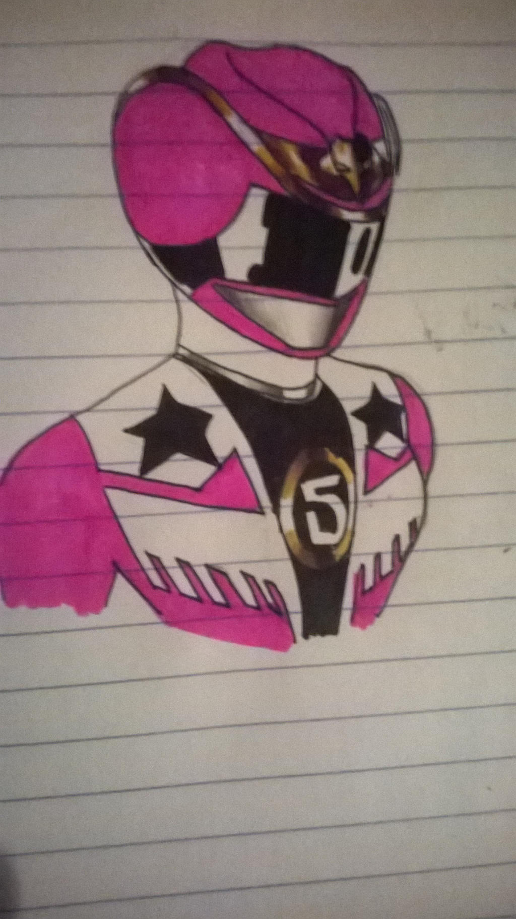Pink Cowgirl ranger doodle by DynamicSavior