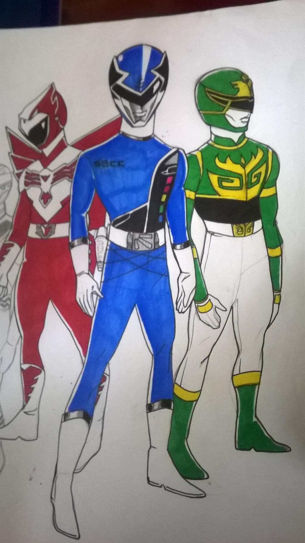 Red, Blue, and Green guys by DynamicSavior