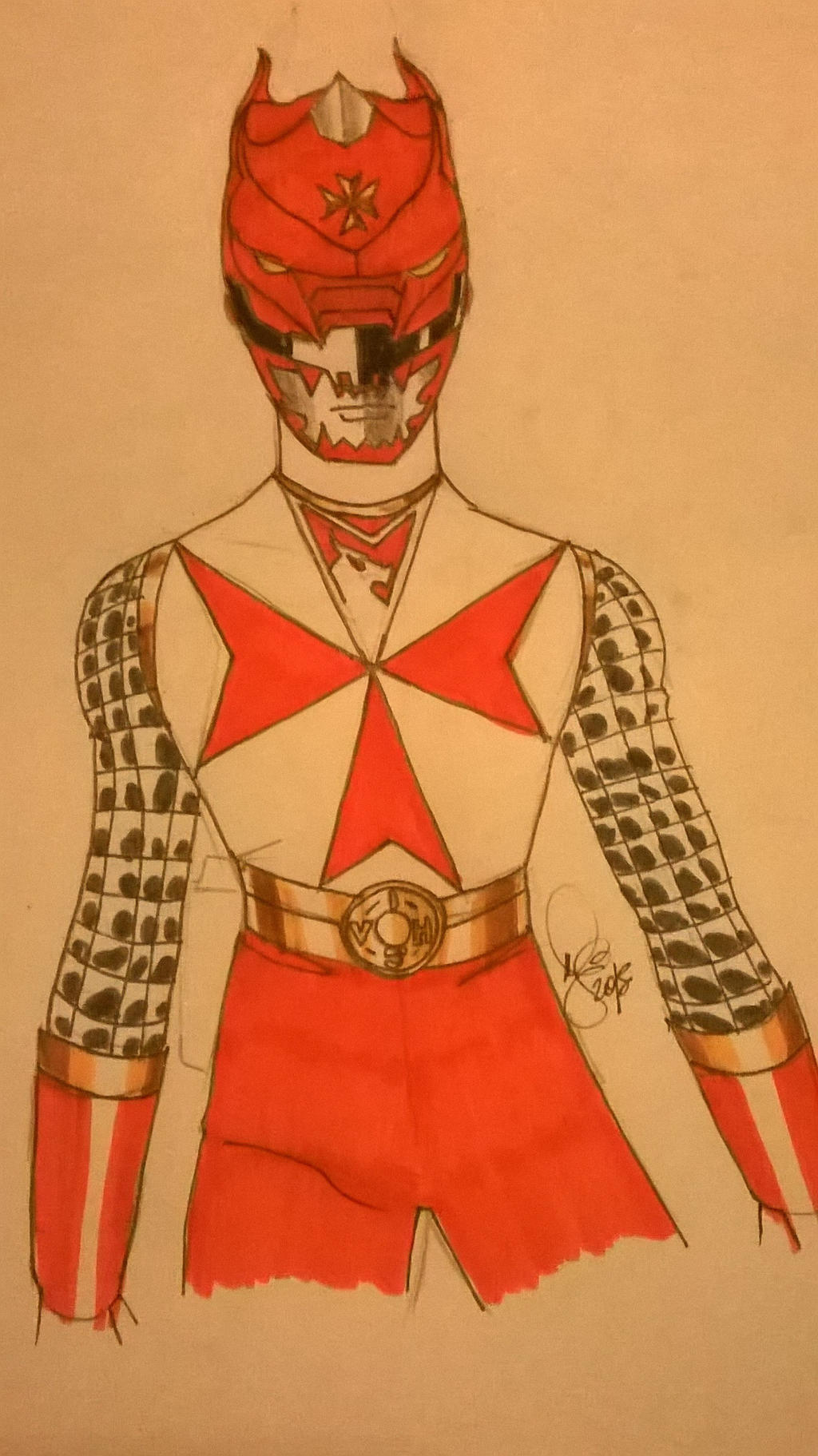 Red Templar ranger concept by DynamicSavior