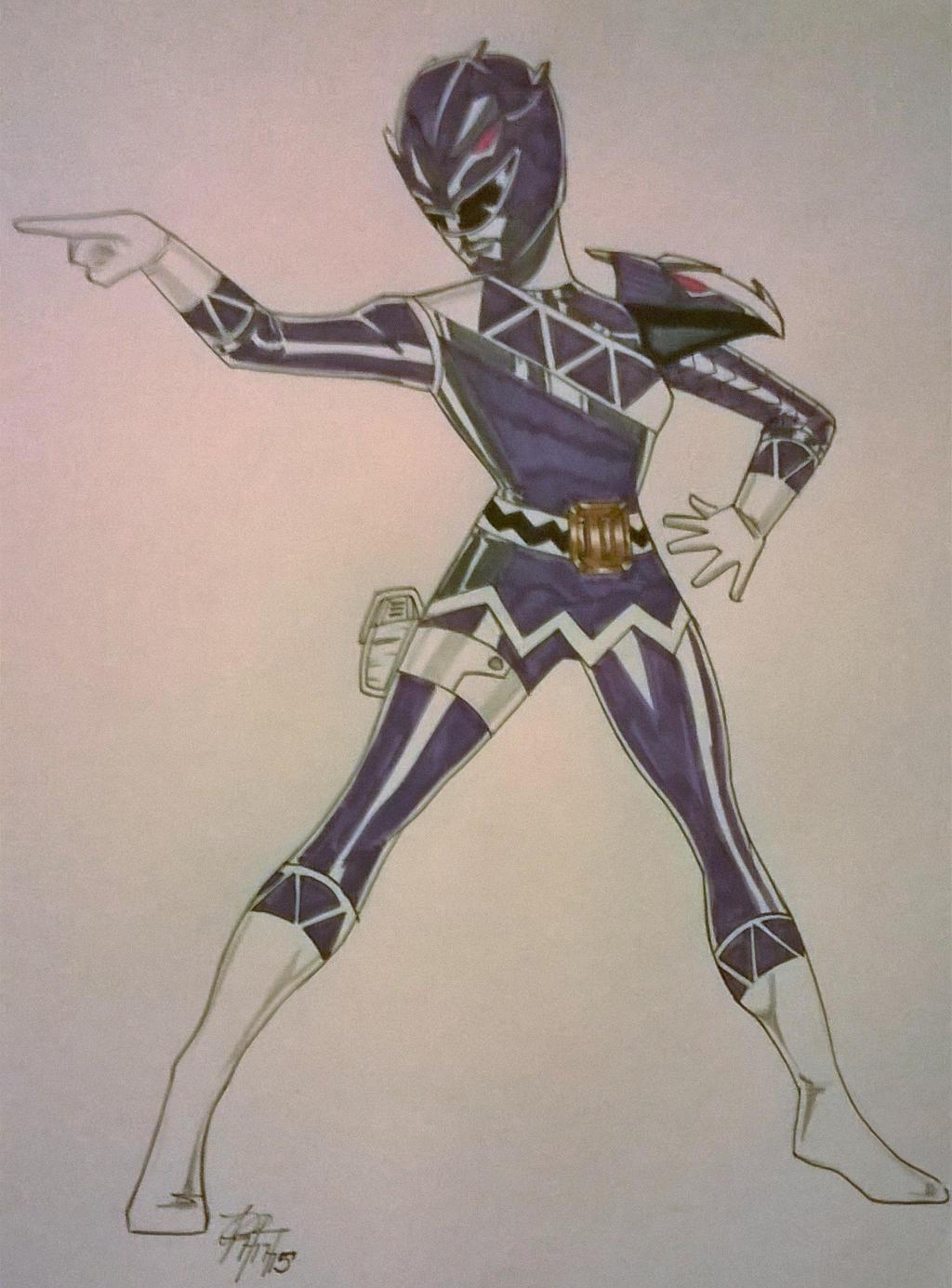 Dino Revolution Purple Tricera Ranger by DynamicSavior