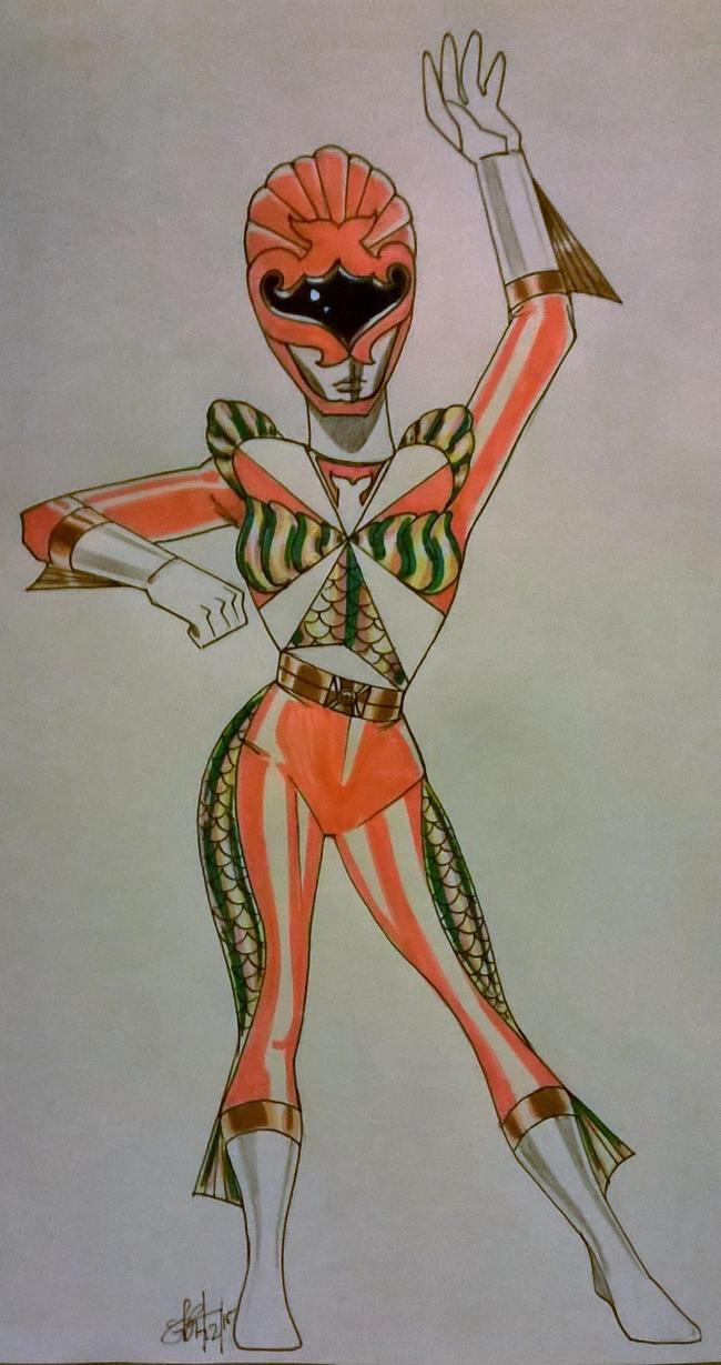 Orange Templar Mermaid by DynamicSavior