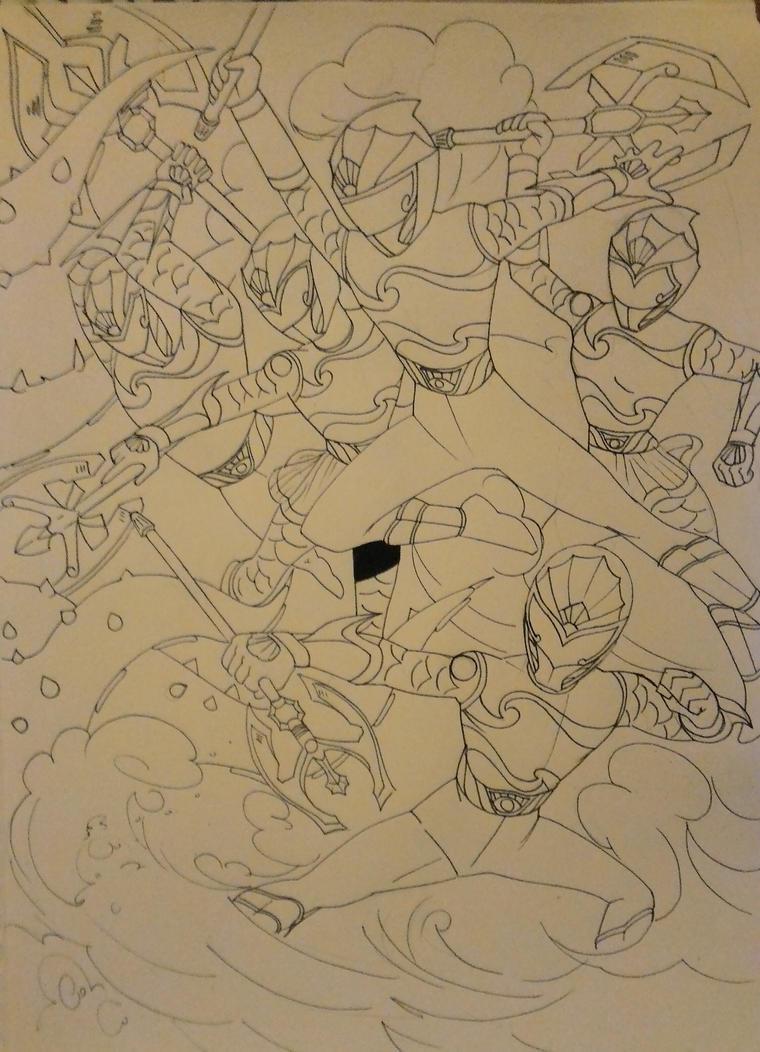 Underwater Sentai darker lines by DynamicSavior