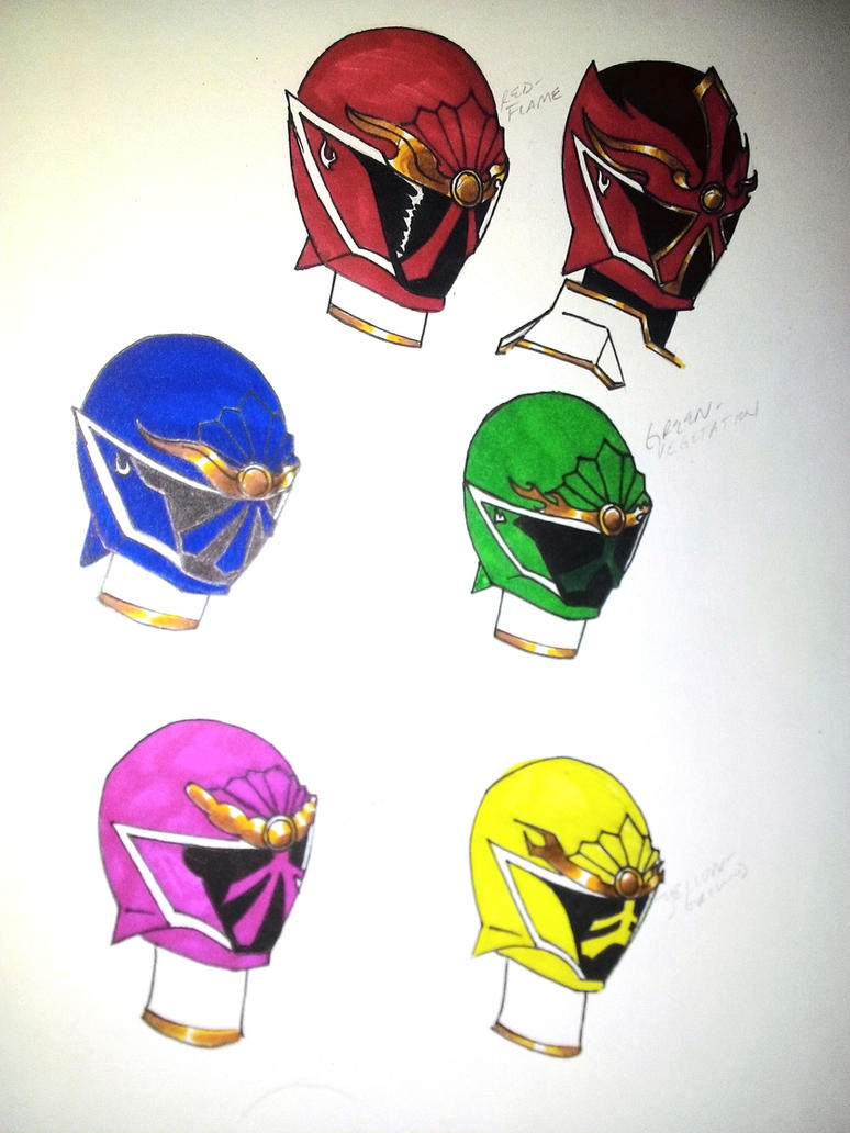 Wild Bushido Helmets by DynamicSavior