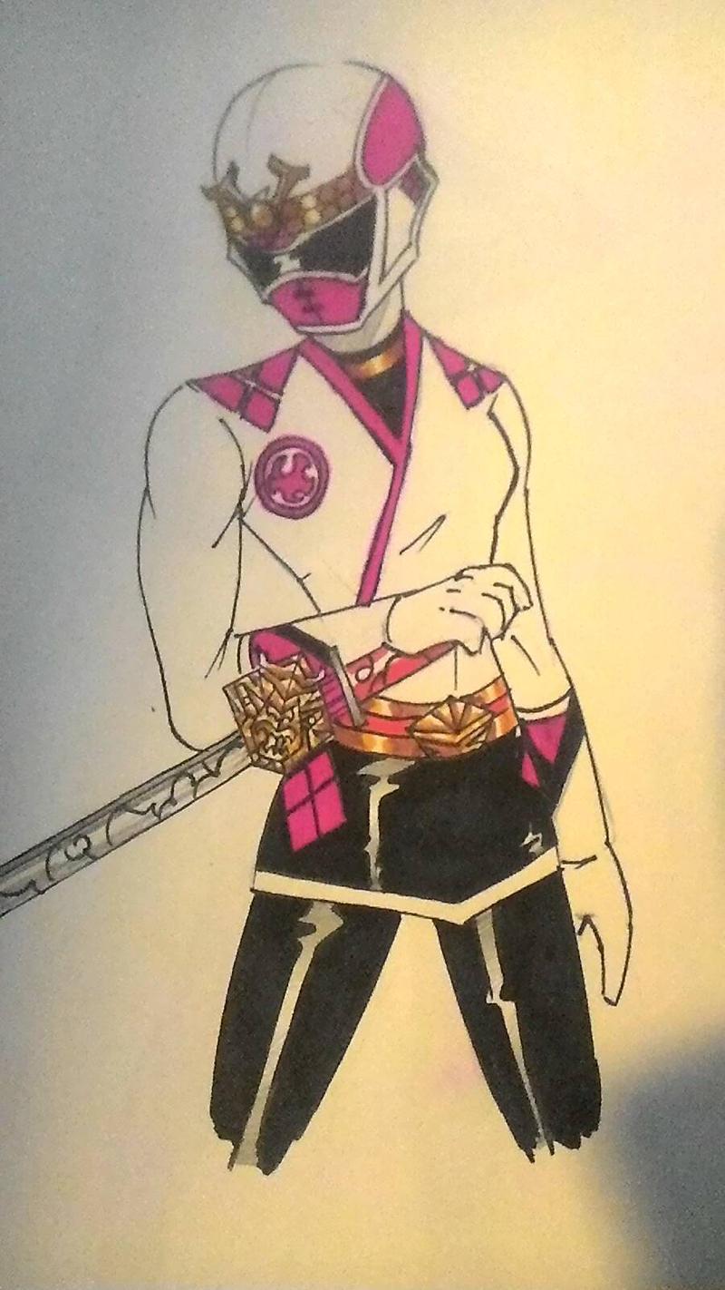 Pink Samurai doodle by DynamicSavior