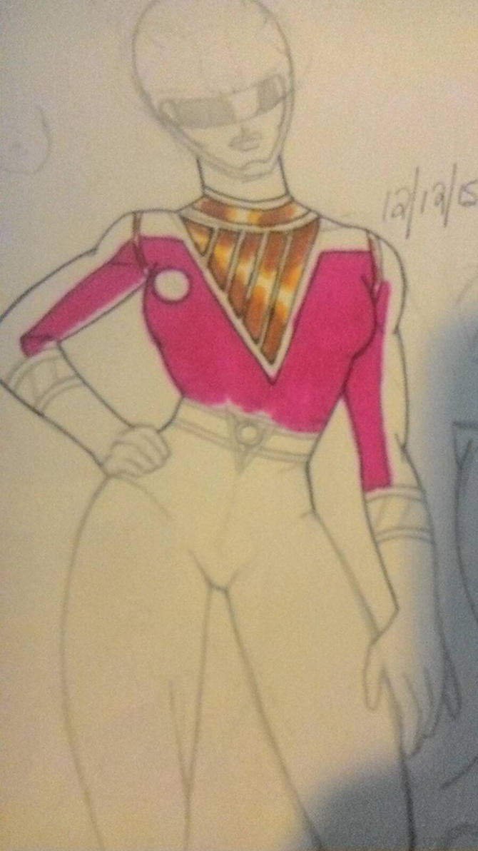 Pink Ranger concept/doodle  by DynamicSavior