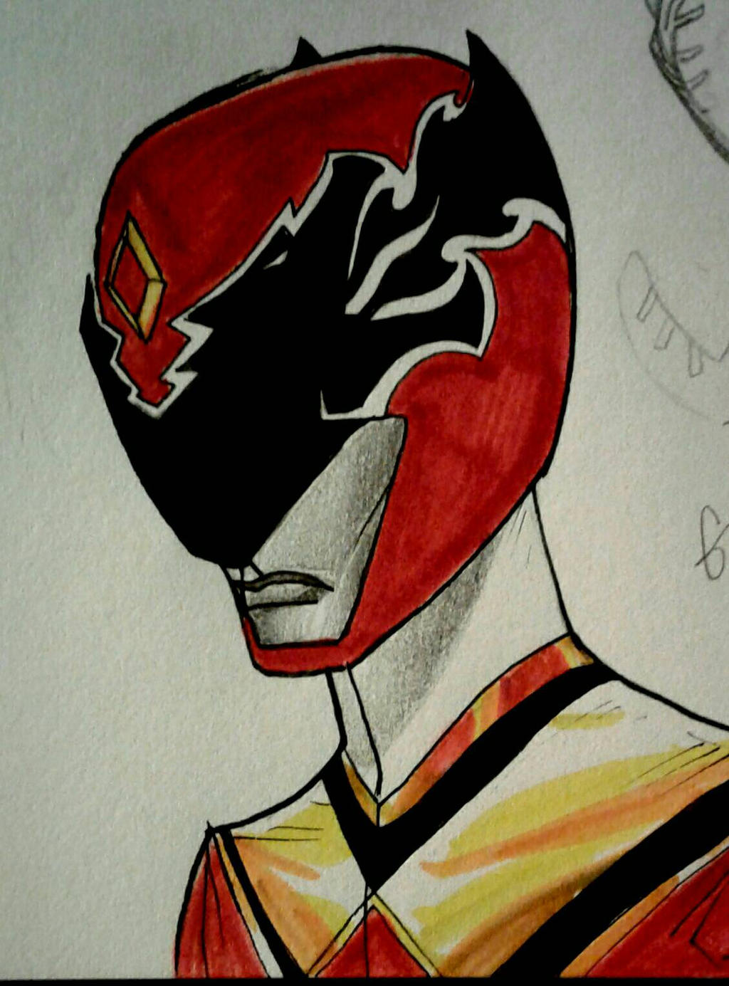 Emerald Charge Red Ranger by DynamicSavior