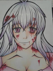 Covered in blood by NesaraKomire
