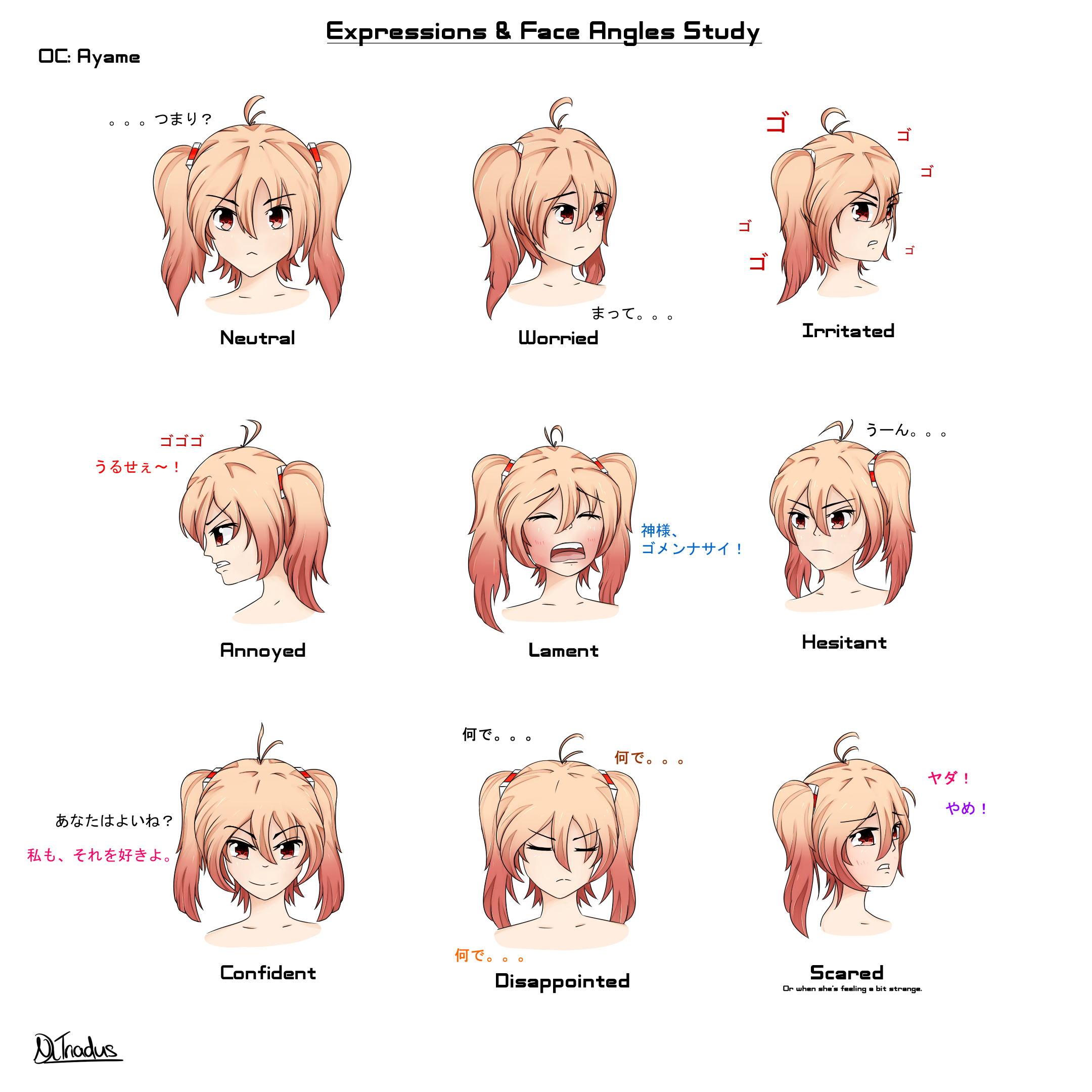 OC Expression and Face Angles Study by NRii on DeviantArt
