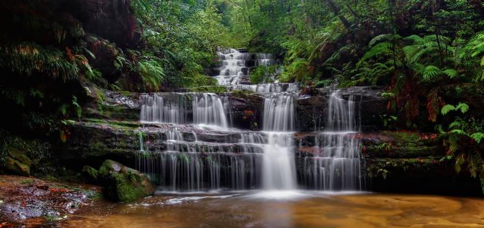 Flowing Terrace Falls