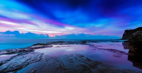 Reflections of Pink and Blue by MarkLucey