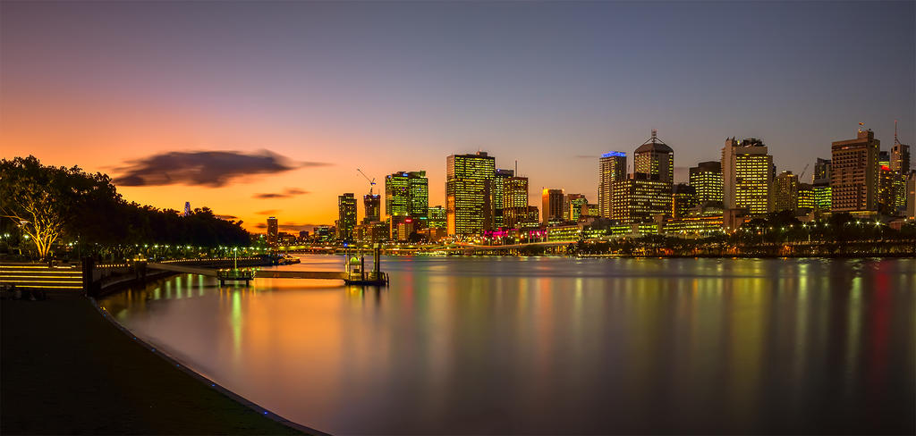 River Sunset by MarkLucey