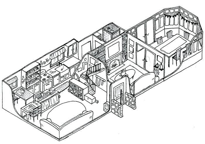 Ground Floor - Isometric Sketch by baykinz on DeviantArt