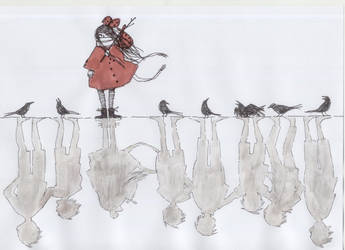 The seven ravens - illustration by molnareszter