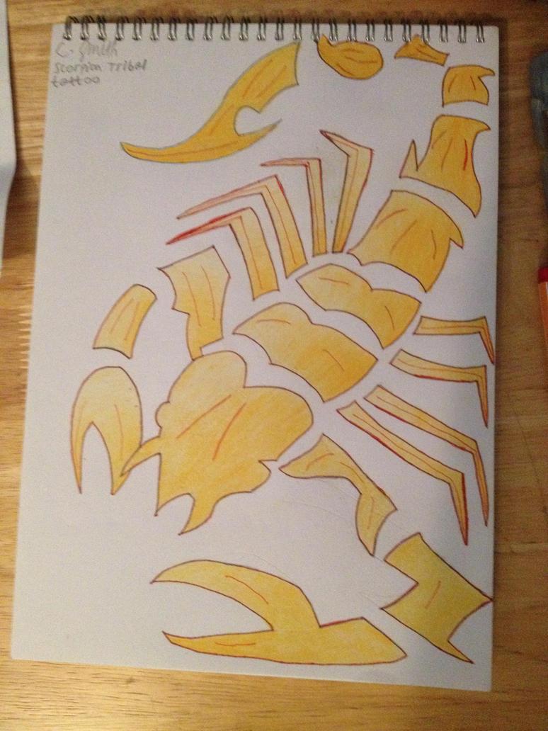 Scorpion Tribal Tattoo Design by Firefly1599