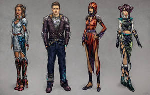 Cyberpunk Characters by JonnyKlein