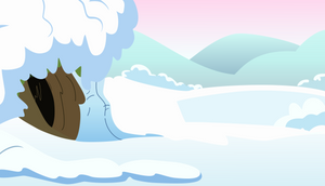 Snow Cave Background by SilverVectors