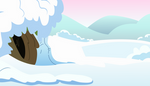 Snow Cave Background