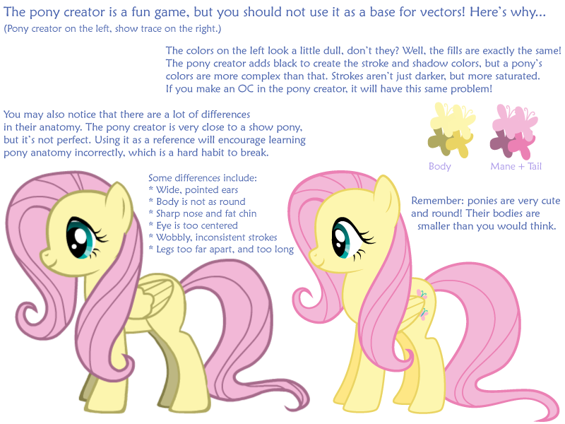 why not to vector from the pony creator by silvervectors on deviantart