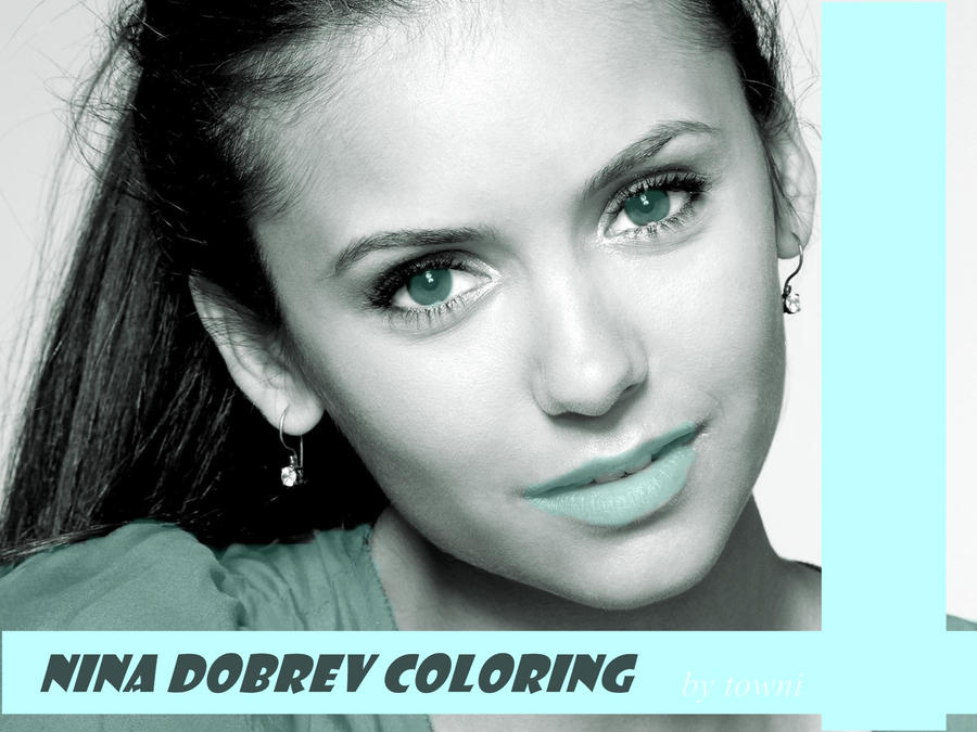 !Made of love.  Nina_dobrev_coloring__by_towniburni-d4nhtcg