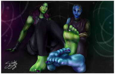 Gamora and Nebula - Sole Sisters by SinfullySoles