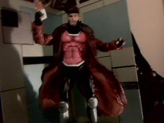 Gambit action figuer by livingnightmare1992