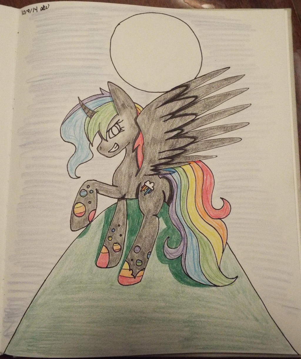 Rainbow Tears comission by emoandmusiclover