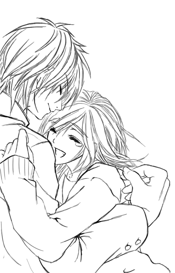 anime couples coloring pages | Tumblr Couple Hugging Drawing | newhairstylesformen2014.com