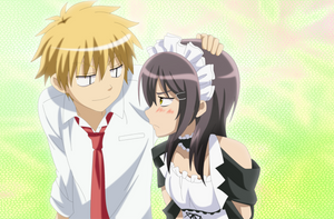 Misa and Usui by Cantrona