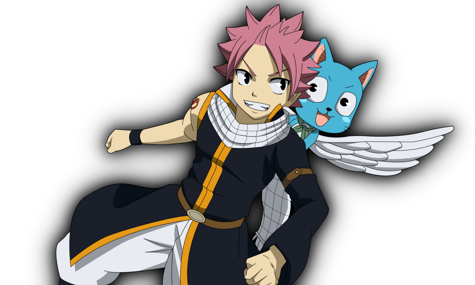 natsu and happy by cantrona on deviantart