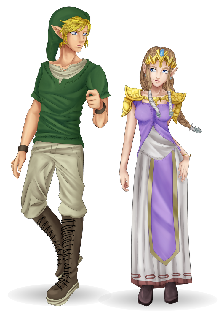 Link and Zelda by Cantrona