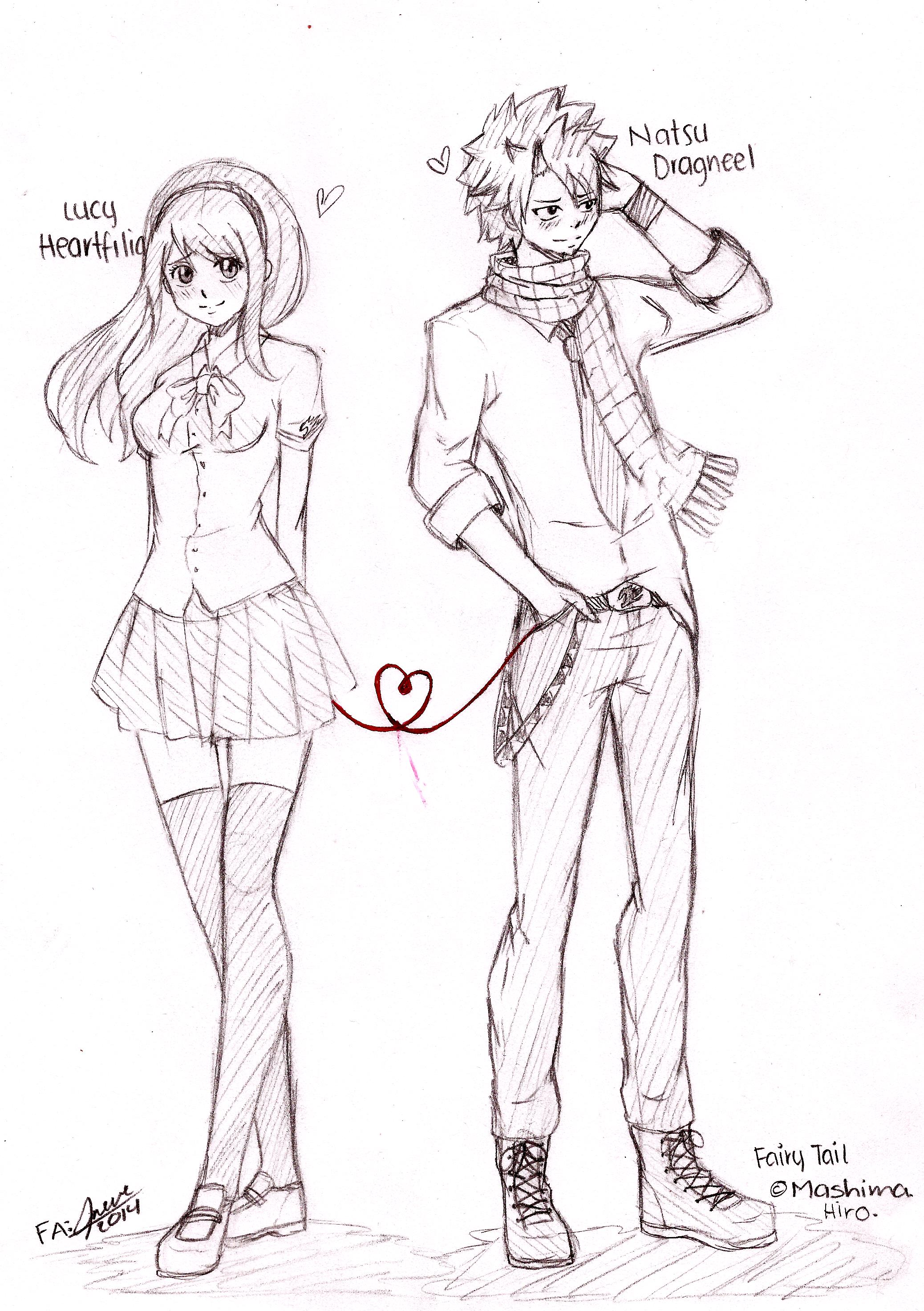 NaLu Red Thread [FA  Fairy Tail] by Irenechii
