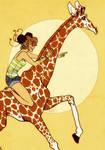 Junabelle and a Giraffe