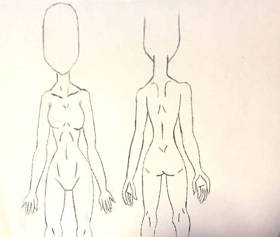 Practicing 2: Anime Woman's Anatomy by Anjalea