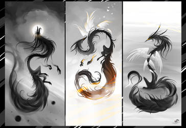 Air Fox Triptych by RedBast