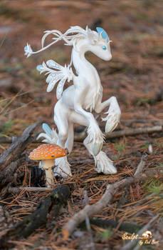 Unisaurus and mushroom
