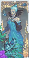 Lady Blue Jay by ChuckARTT