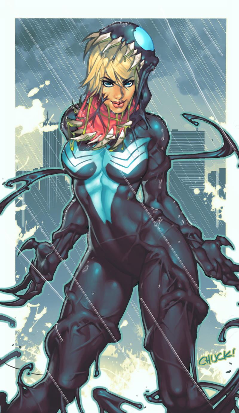 She Venom Comish by chuck-piresART