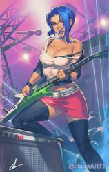 Rocket Girl commission