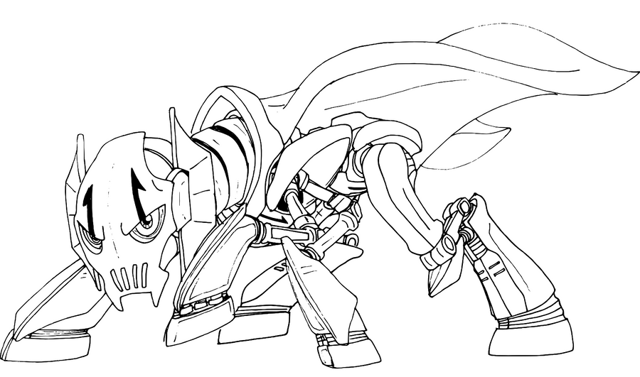 General grievous ponymorph drawing by decompressor on for General grievous coloring page