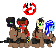 Pony Ghostbusters Group pony logo by decompressor