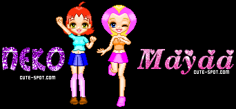 Pixellated Neko and Mayya by MidoriTheGreen