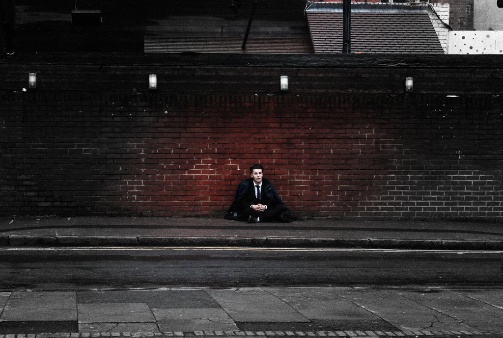 Suited Homeless by SinaSadatPhotography