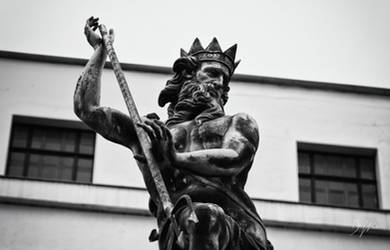 Neptune in Durham Market Place by domwphoto